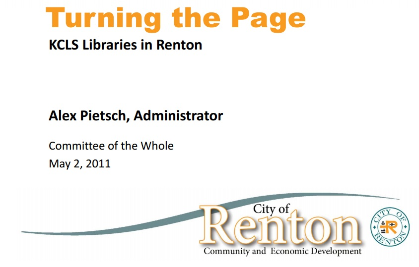 Remodeling of Cedar River Library was presented by city as an option before and after KCLS annexation election